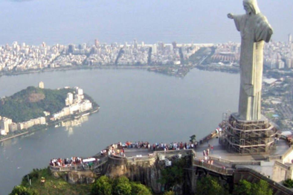 Vista aérea do Corcovado, no Rio de Janeiro
