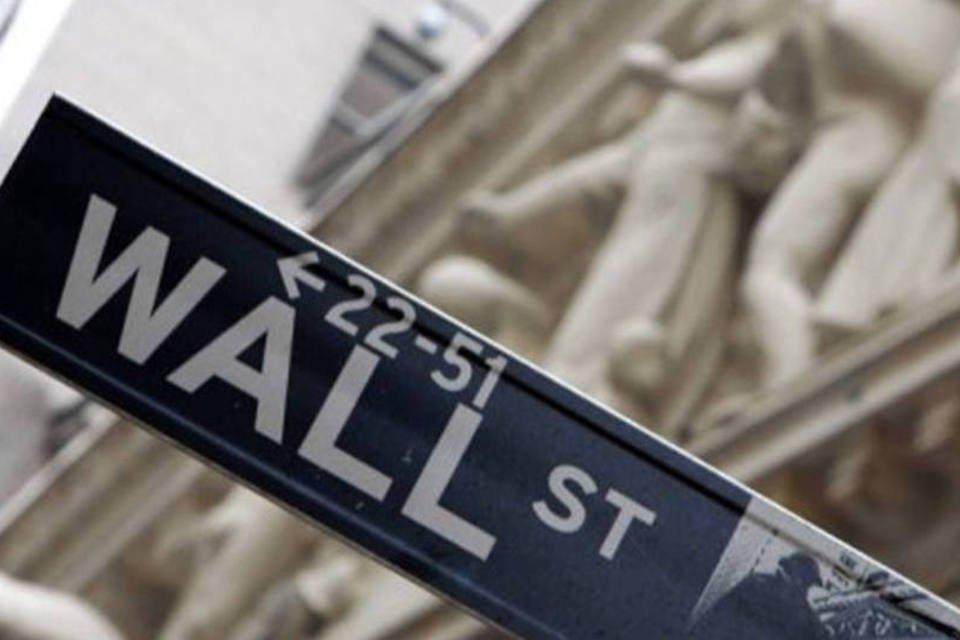 Placa indicando Wall Street