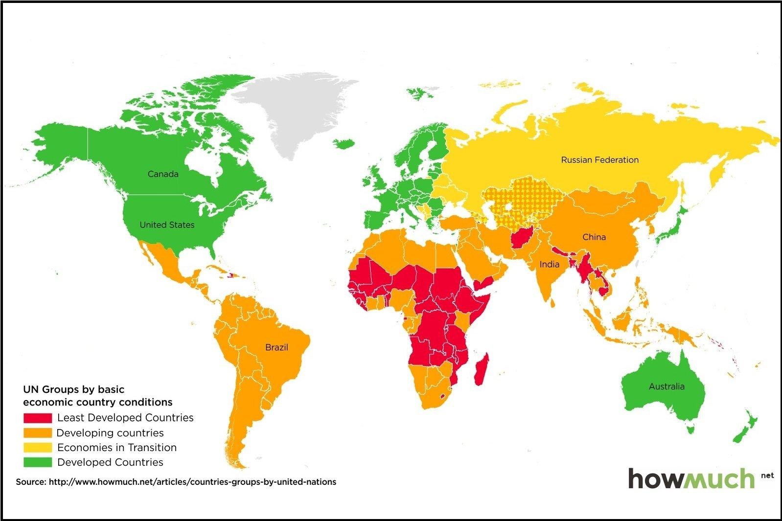 O Nivel De Desenvolvimento De Todos Os Paises Em Um Mapa Exame