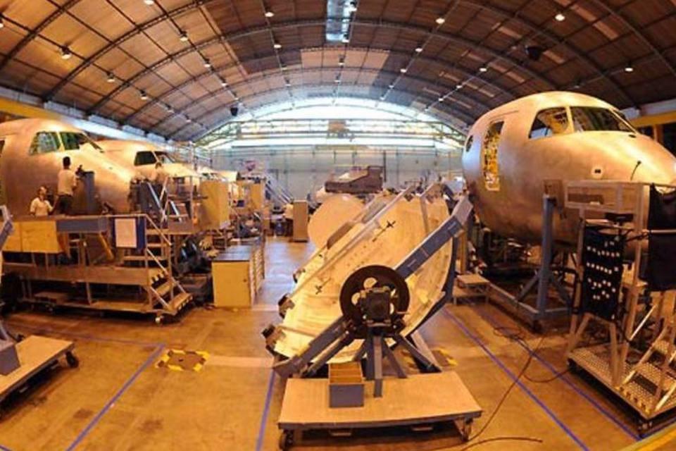 Fábrica da Embraer em São José dos Campos, no interior de São Paulo