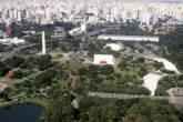 Visão aérea do Parque Ibirapuera, em São Paulo