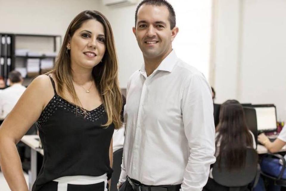 O casal Sibele e Eric Vaz de Lima, fundadores da rede de franquias Vazoli