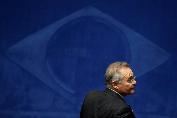 Presidente do Senado, Renan Calheiros, durante sessão da Casa, em Brasília 26/08/2016