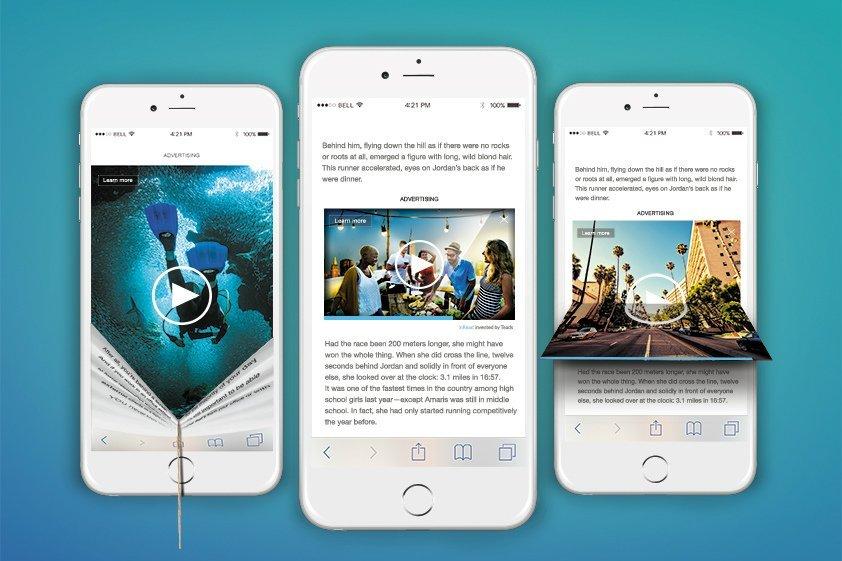 Alguns dos formatos para mobile: vertical, landscape e square