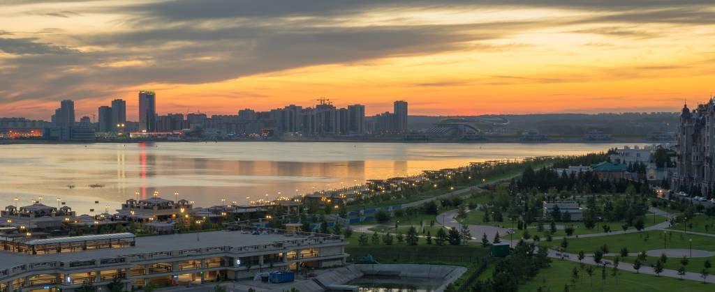 Panoramic view. Kazan city, Russia