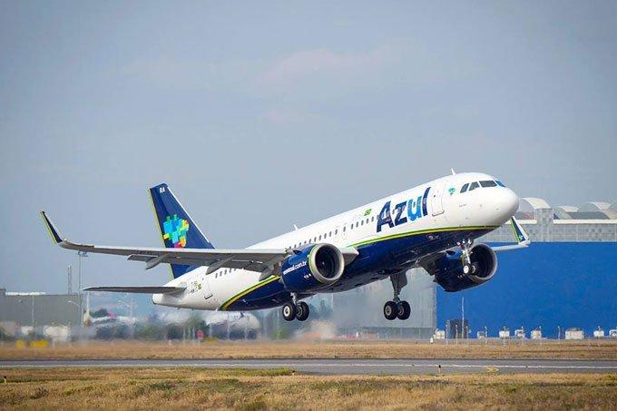 Avião da companhia aérea Azul
