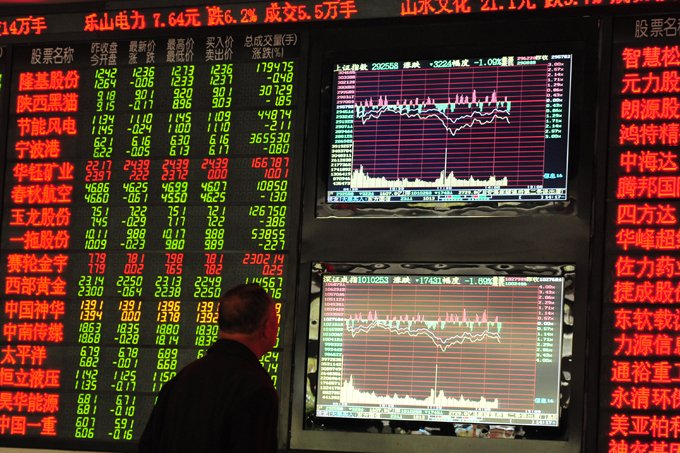Bolsa de Xangai, na China