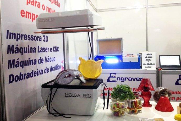 Máquina da MoldaPro na Feira do Empreendedor: evento do Sebrae 2017