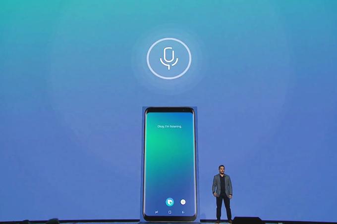 Bixby: a assistente pessoal da Samsung é apresentada durante o evento de lançamento do Galaxy S8