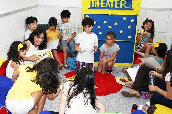 Sala de aula da System Idiomas em Maceió (Alagoas)