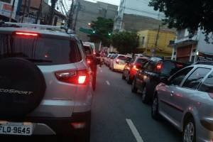Trânsito na Vergueiro durante a greve