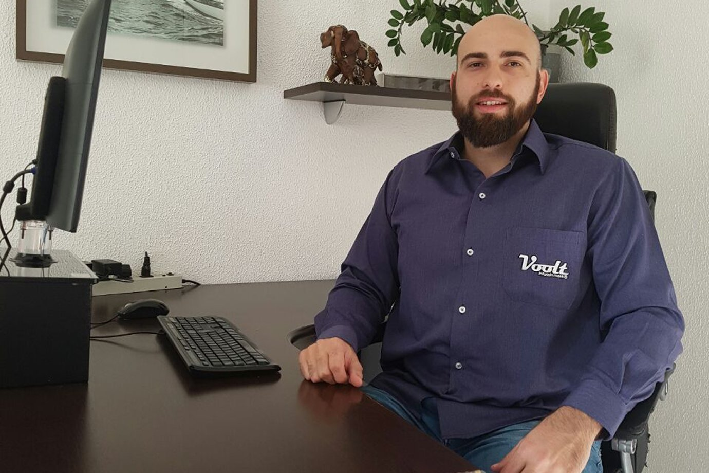 Renan Farias, sócio da Voolt, loja do Mercado Livre