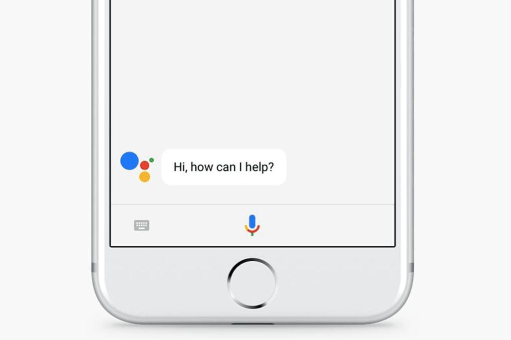 Google Assistente funcionando em um iPhone