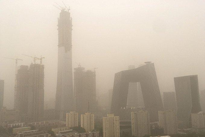 Tempestade de areia na China em 04.05.2017