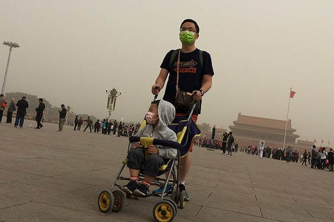 Tempestade de areia na China em 04.05.201