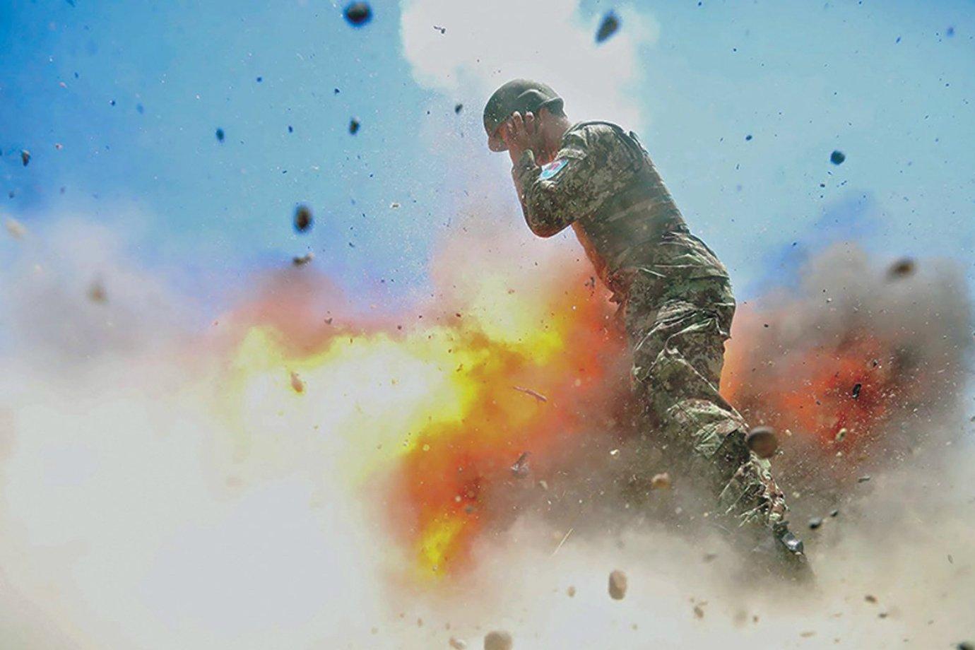 Imagem registrada pela fotógrafa do exército dos EUA, Hilda Clayton