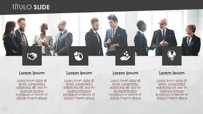 Modelo de slides para investidores