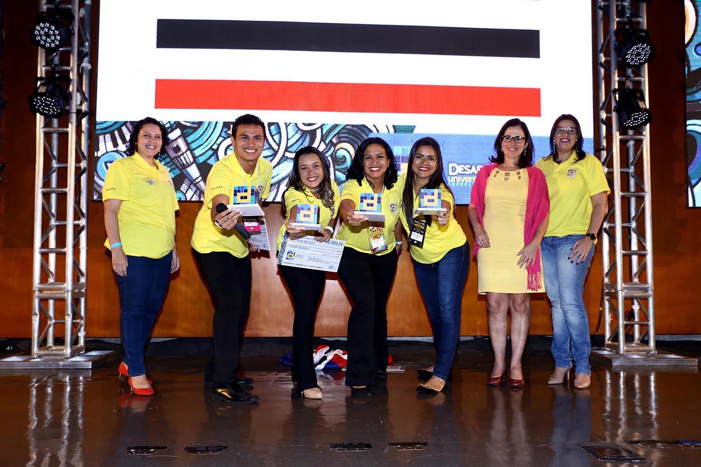 Estudantes vencedores do Desafio Universitário 2017, do Maranhão