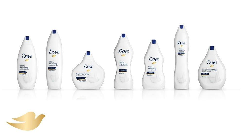 Novas embalagens da Dove: diferentes formatos para celebrar todos os tipos de corpo