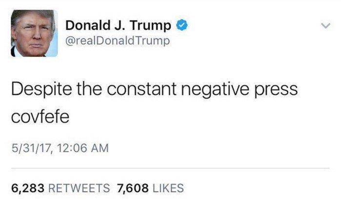 Covfefe; Donald Trump