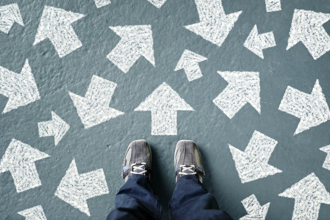 Dúvida, caminhos, escolhas, decisões