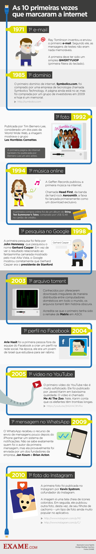 Infografico 10 fatos que marcaram a internet