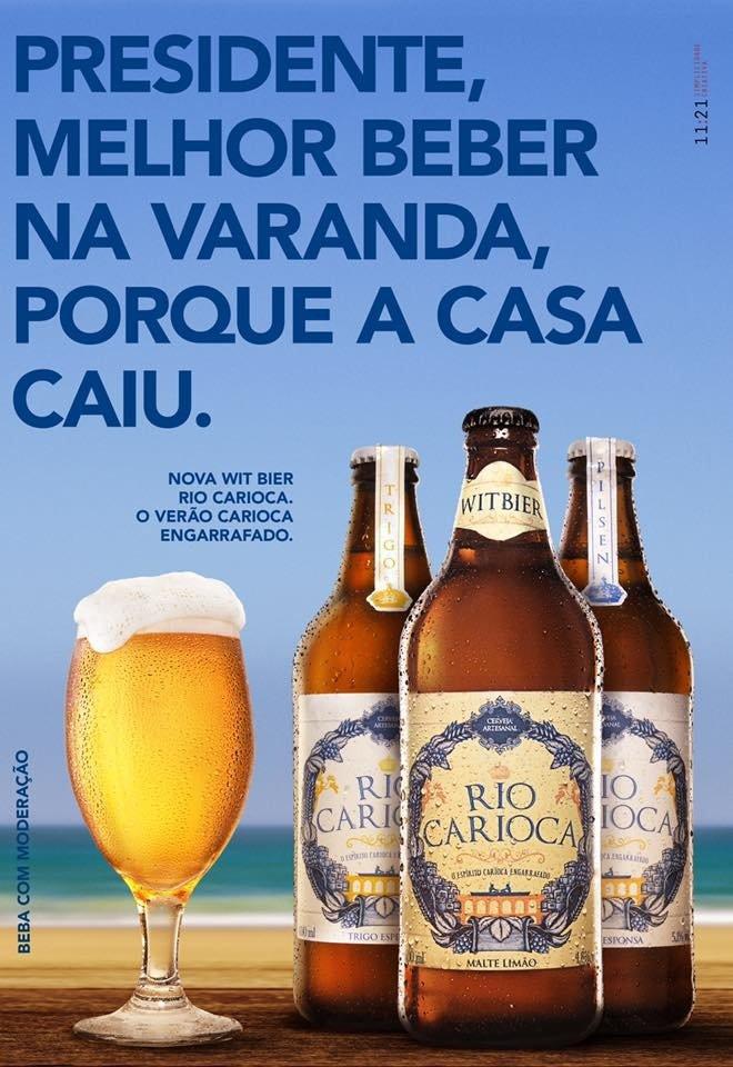 Anúncio Cerveja Carioca para Michel Temer