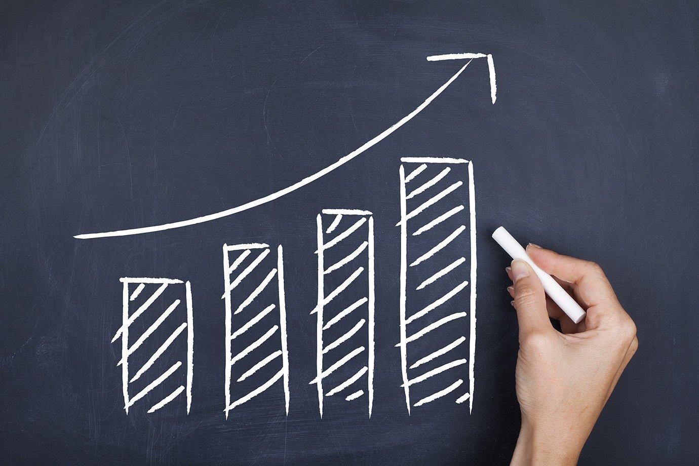 Gráfico subindo: vendas, metas, objetivos, contas, finanças, sucesso