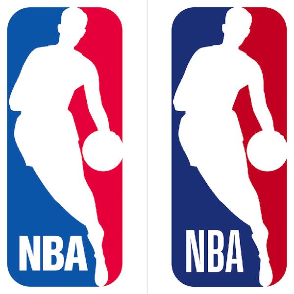 Antigo e novo logo da NBA: mudanças sutis