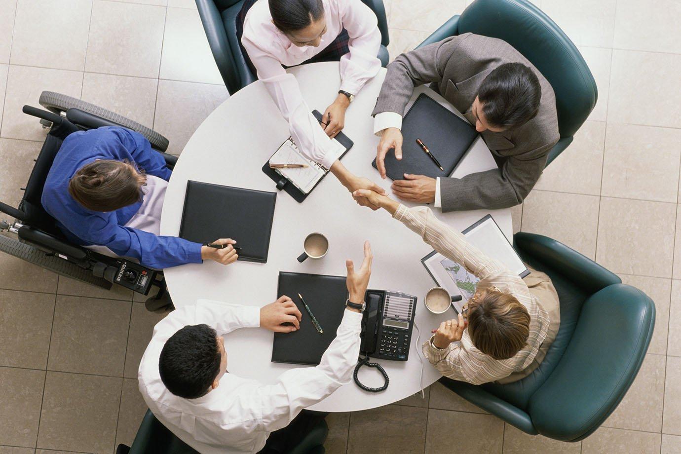 Reunião de negócios/de equipe