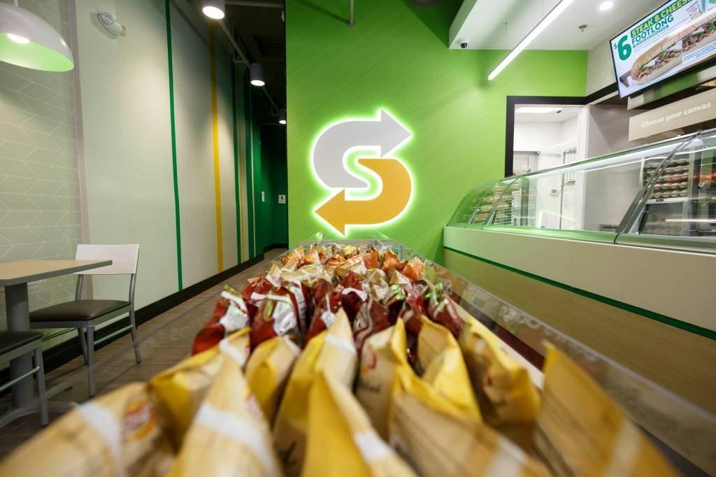 Novo design das lojas do Subway