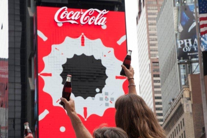 Painel da Coca-Cola em Nova York