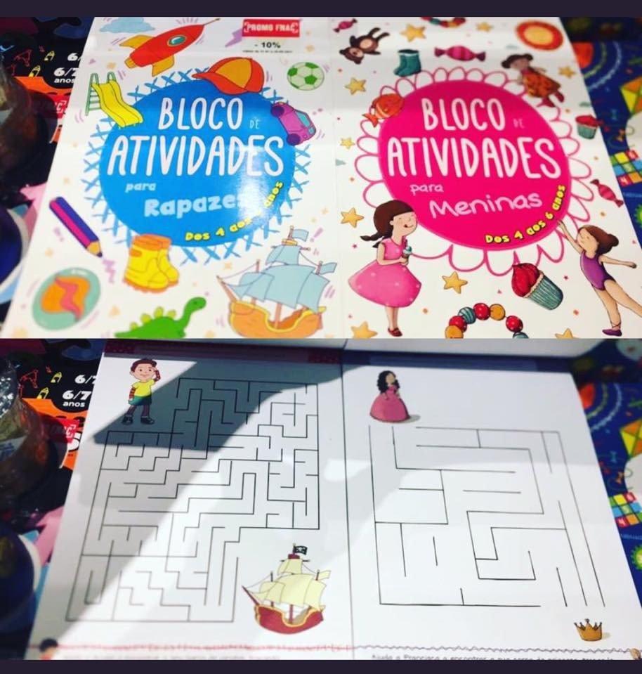 Livro de atividades para crianças
