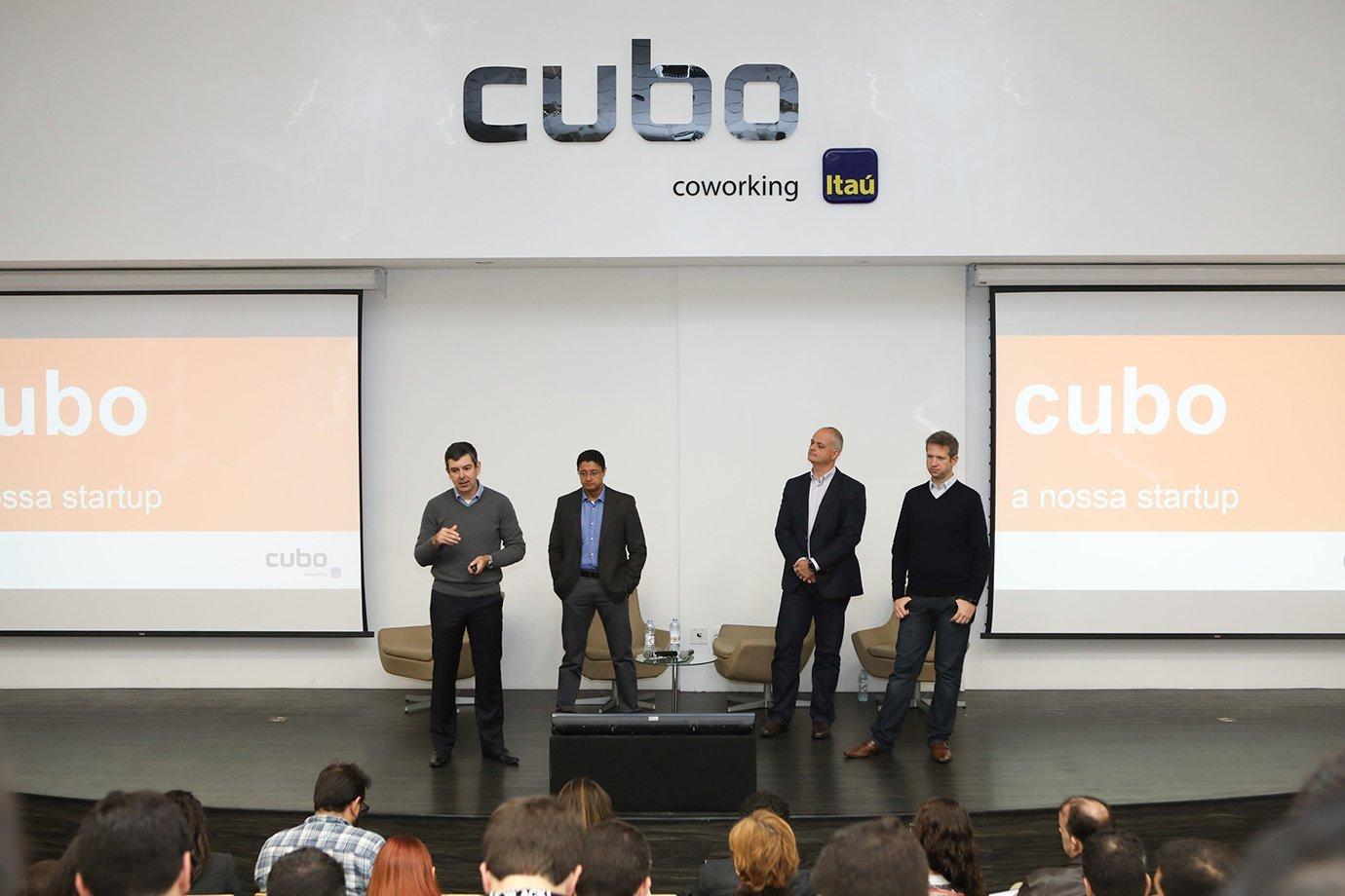 Anúncio de mudança de prédio no Cubo Coworking Itaú