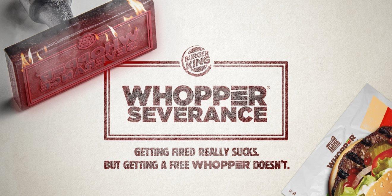 Anúncio do Burger King: comida de graça para quem foi demitido