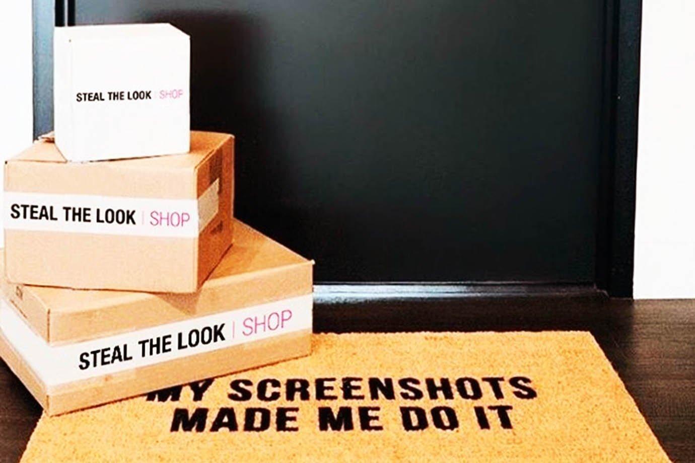 Caixas de entrega do marketplace da Steal The Look
