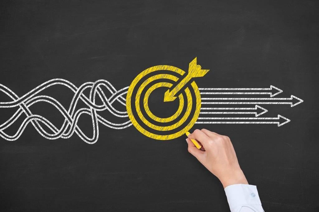 Alvo, meta, organização, missão, visão e valores