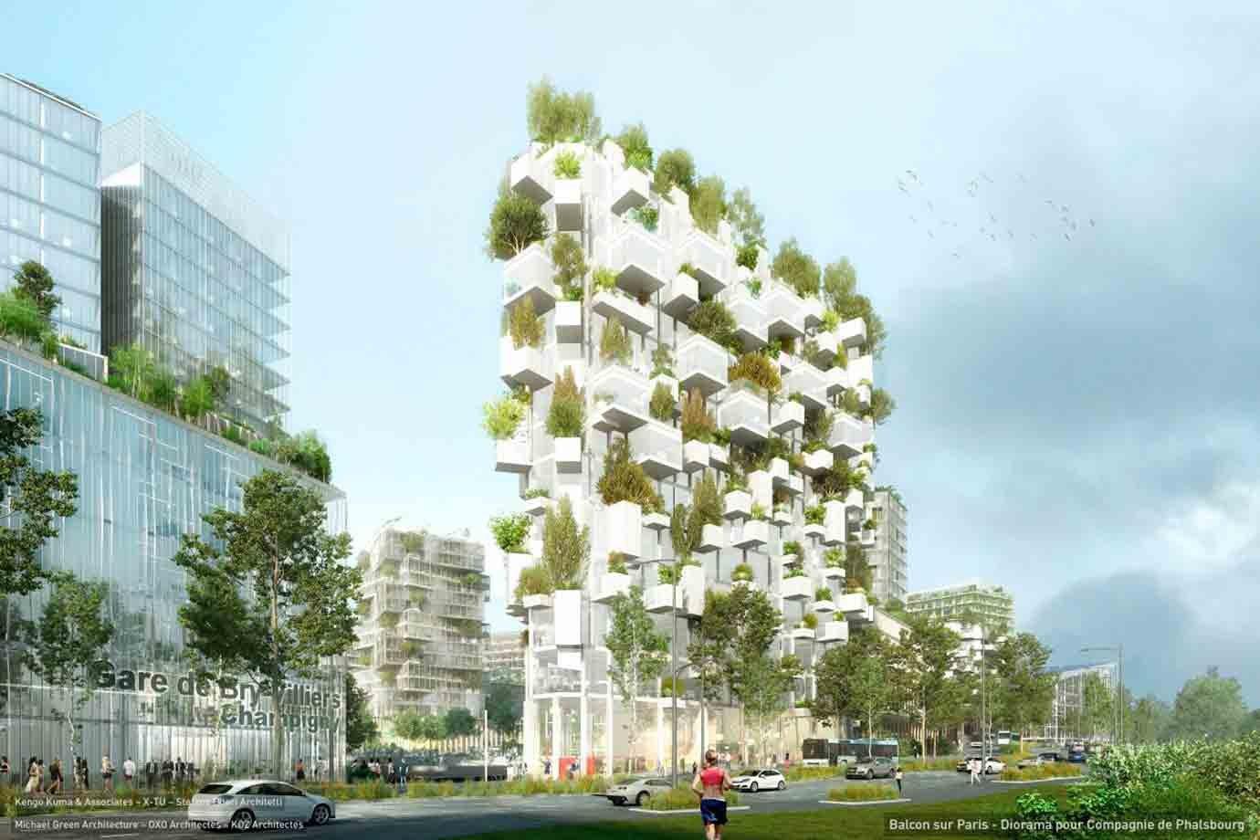 "Projeto do prédio ""Fôret Blance"" do escritório italiano Stefano Boeri Architetti"