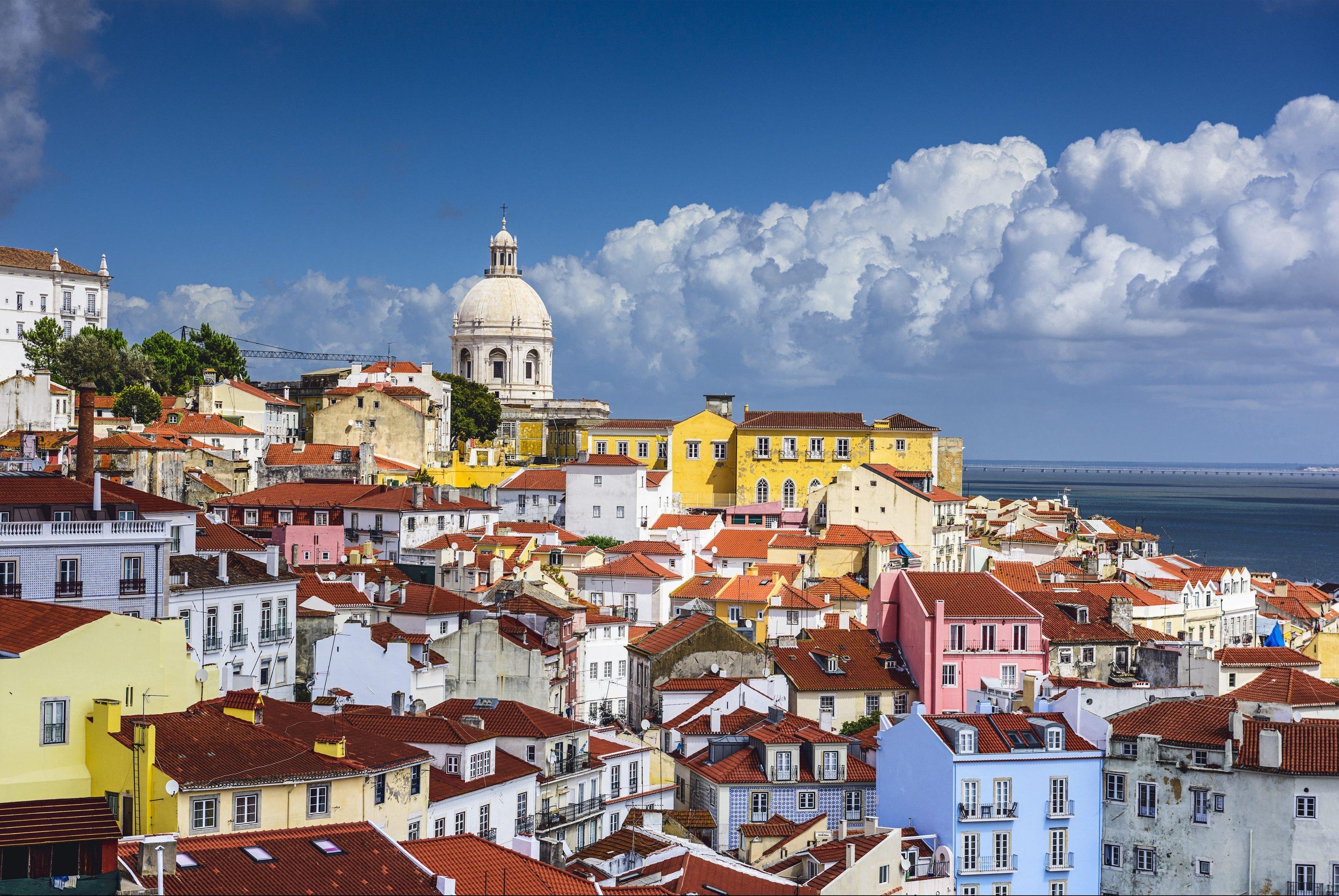 Bairro de Alfama, em Lisboa, Portugal