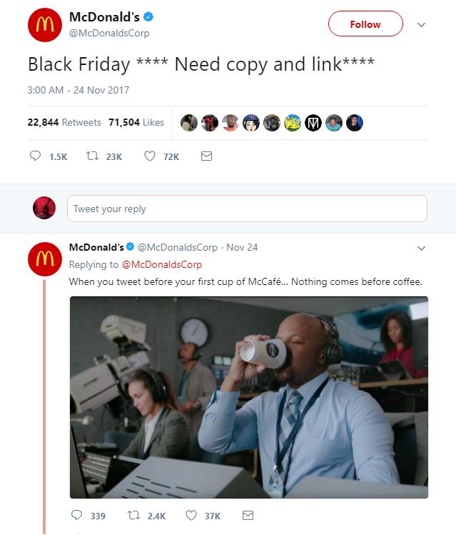 Tweet do McDonald's: pequeno deslize e humor
