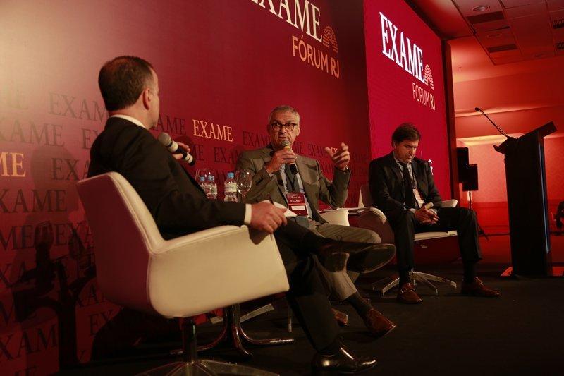 André Lahóz, diretor de redação de Exame; Jorge Camargo, presidente do IBP; e Marcelo Haddad, presidente da Rio Negócios