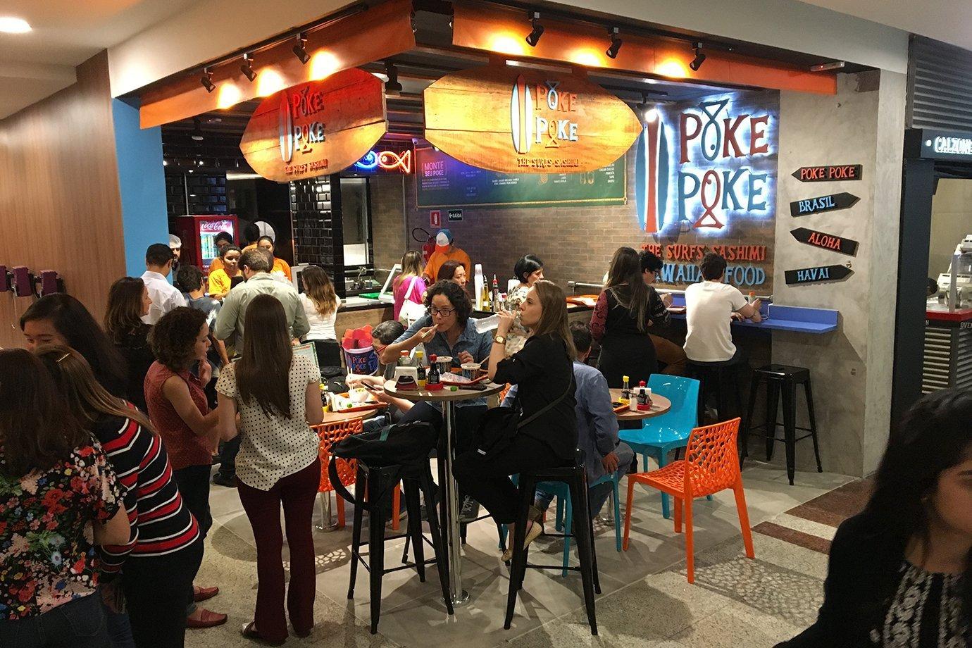 Restaurante do Poke Poke, no centro de São Paulo