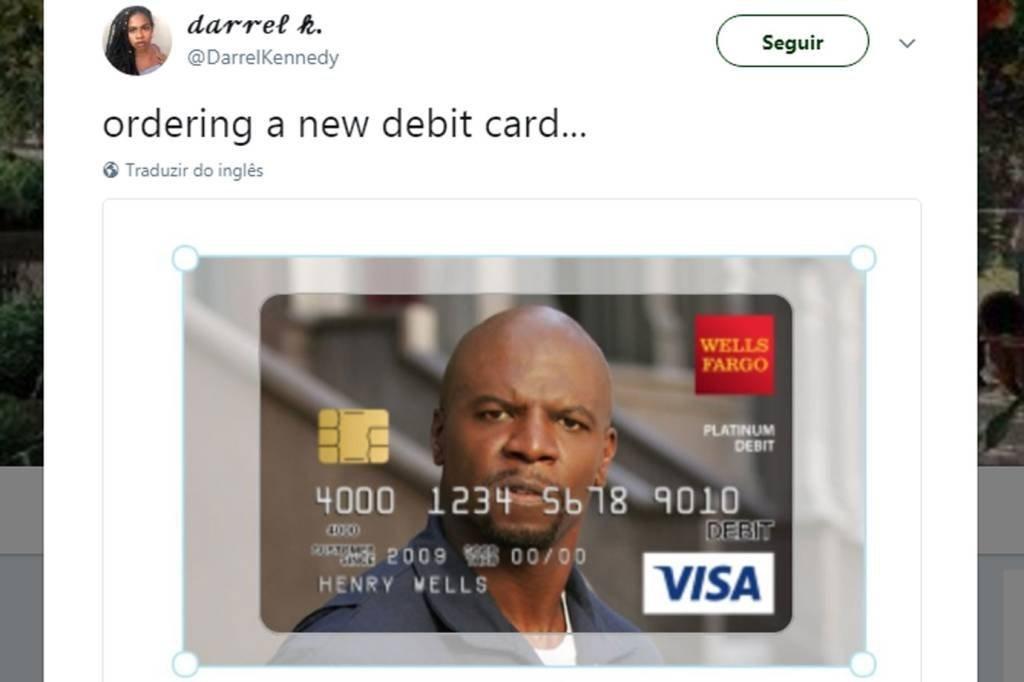 Terry Crews, estrela da Old Spice, estampa cartão Visa