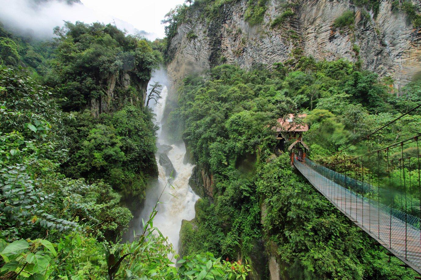 Cachoeira no Equador