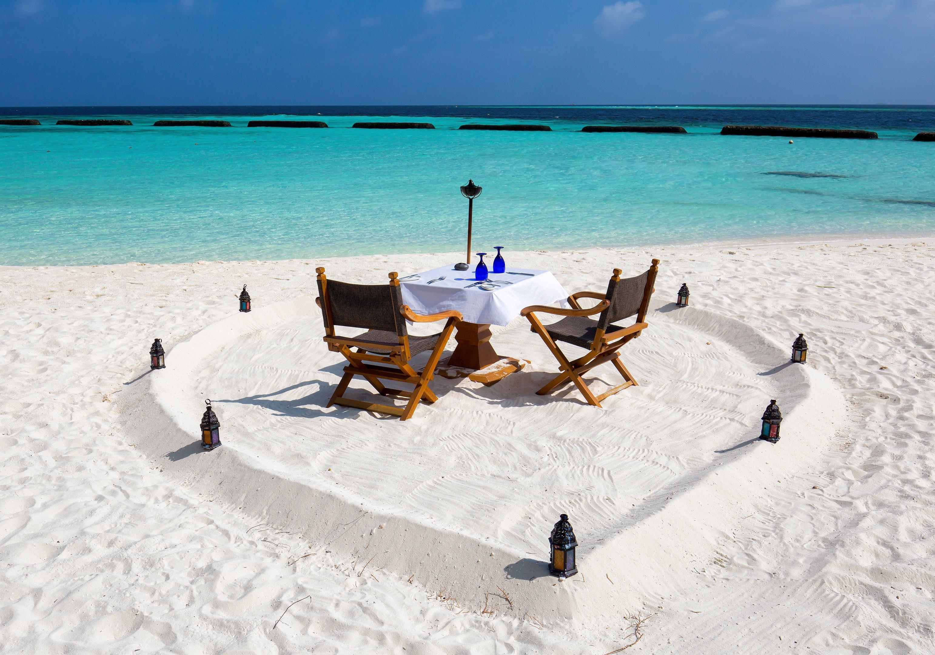 Almoço romântico nas Maldivas