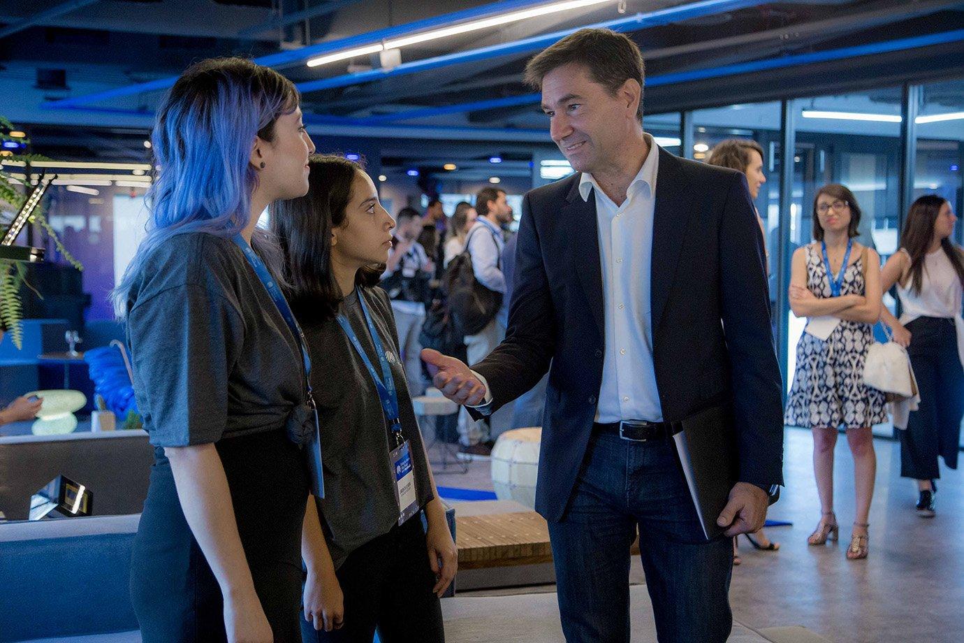 Diego Dzodan, vice-presidente de Facebook e Instagram para América Latina no espaço Estação Hack, do Facebook, em São Paulo