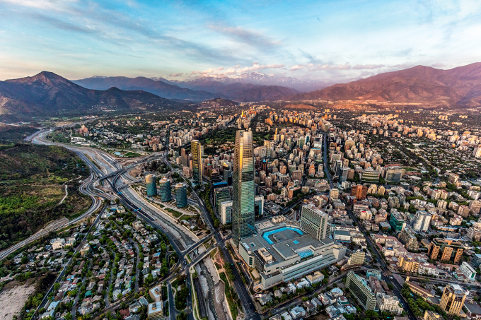 Vista de Santiago, no Chile