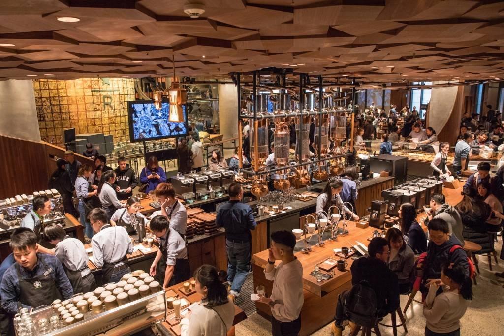 Loja da Starbucks, Premium Reserve Roastery, em Xangai, China