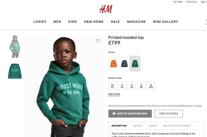 H&M: acusação de racismo por conta de moletom