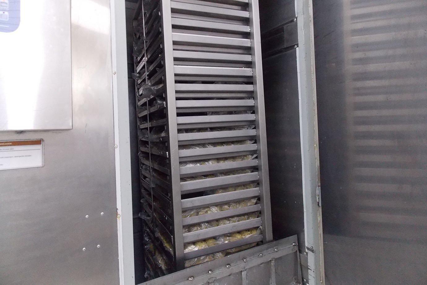 Ultracongelador da Mr. Cheney, na fábrica em São Paulo